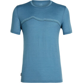 Icebreaker Tech Lite Rangitoto Triple SS Crewe Shirt Men thunder